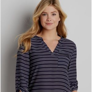 Navy striped perfect blouse